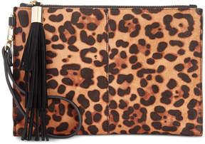INC International Concepts I.n.c. Molyy Leopard-Print Party Wristlet Clutch