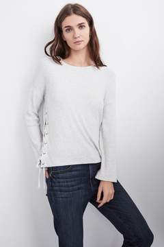Velvet by Graham & Spencer JONAS COZY RIB LACE UP SLEEVE TOP