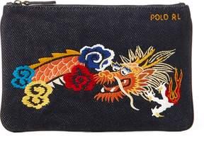 Ralph Lauren Dragon Canvas Mini Zip Pouch