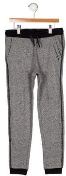 Karl Lagerfeld Girls' Metallic-Accented Knit Joggers