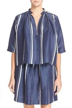 Apiece Apart 'Agata' Stripe Shirred Blouse