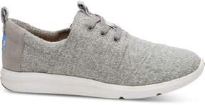 Toms Drizzle Grey Woven Felt Women's Del Rey Sneakers