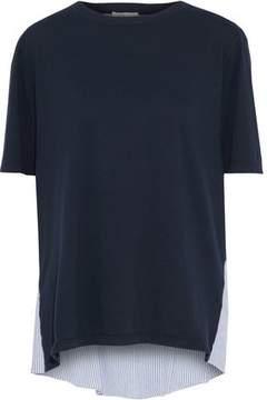Clu Paneled Cotton-Seersucker And Jersey Top