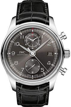 IWC IW390404 Portugieser alligator-leather watch
