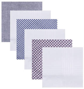 Dockers 6 Pack 100% Cotton Handkerchief Set