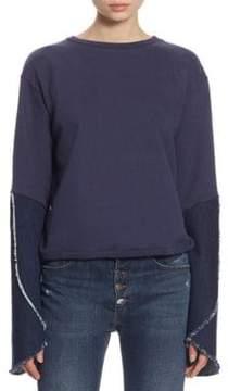 Each X Other Bell Sleeve Cotton Sweatshirt