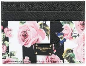 Dolce & Gabbana rose print card holder