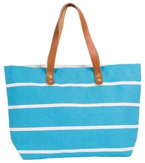 Cathy's Concepts Monogram Stripe Tote - Blue