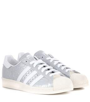 adidas Superstar 80s embossed leather sneakers