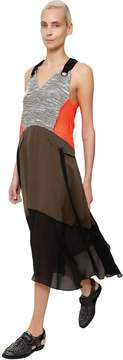 Damir Doma Patchwork Cotton & Techno Dress
