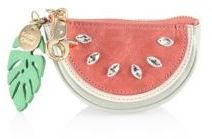 See by Chloe Embellished Watermelon Leather Key Chain