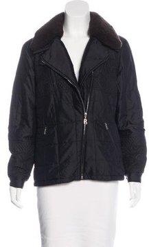 Bogner Shearling-Trimmed Puffer Coat