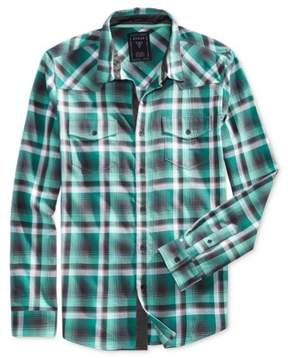 GUESS Mens Plaid Button Up Shirt