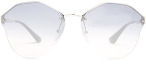 PRADA EYEWEAR Angled-frame metal sunglasses