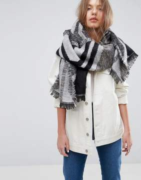 Asos Long Woven Graphic Shapes Scarf