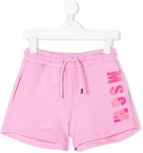 MSGM logo track shorts