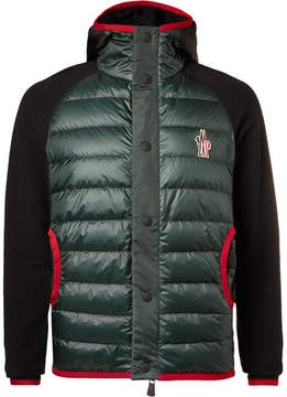 Moncler Fleece-Panelled Padded Ski Jacket
