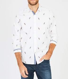 Nautica Signal Flag Print Long-Sleeve Classic Fit Shirt
