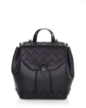 BVLGARI BVLGARI x Nicholas Kirkwood Serpenti Forever Studded Leather Drawstring Backpack