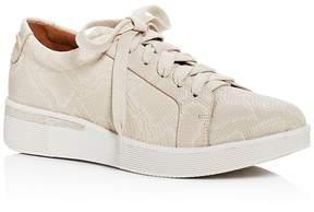 Gentle Souls Haddie Embossed Lace Up Sneakers