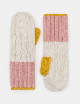 Boden Cable Knit Mittens