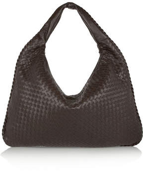 Bottega Veneta - Maxi Veneta Intrecciato Leather Shoulder Bag - Dark brown