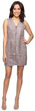 Brigitte Bailey Bishop Faux Suede Front Zip Dress Women's Dress