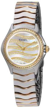 Ebel Wave White Mother Of Pearl Diamond Dial Ladies 18K Yellow Gold Watch