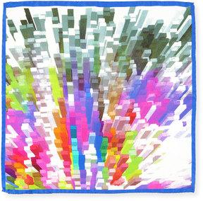 Bugatchi Rainbow Geometric Silk Pocket Square