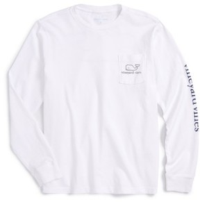 Vineyard Vines Boy's Vintage Whale Graphic Long Sleeve T-Shirt