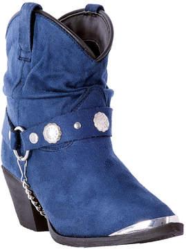 Dingo Blue Leather Harness-Accent Cowboy Boot - Women