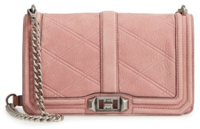 Rebecca Minkoff Love Nubuck Crossbody Bag - Pink