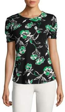 Isaac Mizrahi IMNYC Ruffle Short Sleeve Top