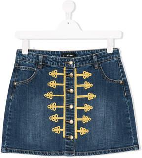 John Richmond Kids TEEN cornelli braid denim skirt