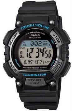 Casio Women's Solar Runner Watch, Black/Blue