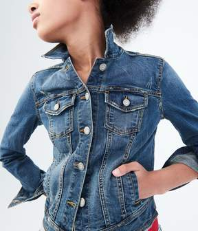 Aeropostale Seriously Stretchy Medium Wash Denim Jacket