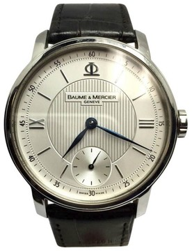 Baume & Mercier Stainless Steel / Leather Automatic 42mm Mens Watch