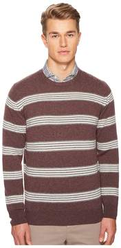 Eleventy Striped Cashmere Crew Neck Sweater Men's Sweater