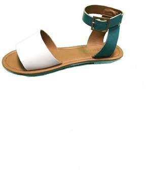 Coconuts by Matisse White & Turquoise Sandal
