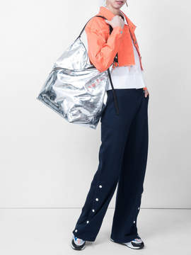 Courreges Flared high-waist trousers