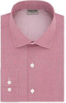 Kenneth Cole Reaction Men's Slim-Fit Techni-Cole Flex Collar Performance Crimson Print Dress Shirt