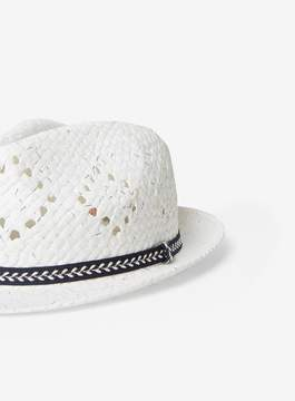 Dorothy Perkins White Trilby Hat