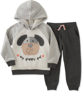 Kids Headquarters 2-Pc. Puppy Pal Hoodie & Jogger Pants Set, Baby Boys (0-24 months)