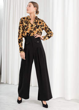 And other stories High Waisted Wide Leg Trousers