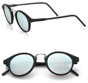Kyme Frank 46mm Round Pantos Mirror Sunglasses
