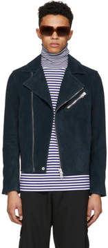 Acne Studios Green Suede Axl Leather Jacket