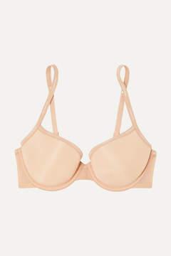 Calvin Klein Underwear Sheer Marquisette Stretch-mesh Underwired Bra - Beige