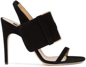 Sergio Rossi oversized buckle sandals