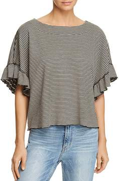 Ella Moss Reversible Striped Cropped Top