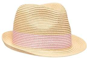 Old Navy Pink-Banded Straw Fedora for Girls